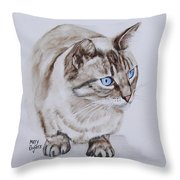 Frankie The Cat Throw Pillow