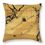 Franklin Chart, 1786 Throw Pillow