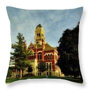 Franklin County Courthouse - Hampton Iowa Throw Pillow