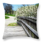 Franklin Park Conservatory Footbridge Throw Pillow