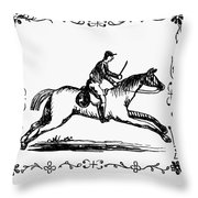 Franklin: Post Rider, 1775 Throw Pillow