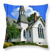 Franklin Square Church Vertical Throw Pillow