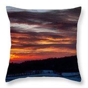 Franklin Sunset  Throw Pillow