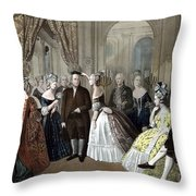 Franklin's Reception At The Court Of France Throw Pillow