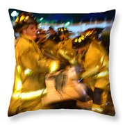 Frantic Rescue Throw Pillow
