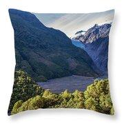 Franz Josef, New Zealand Throw Pillow