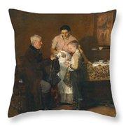 Franz Rumpler  The Letter 1882 Throw Pillow