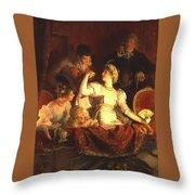 Franz Xavier Simm Throw Pillow