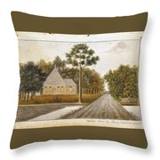 Fraser  Charles   Meeting House In Prince Williams Parish From Untitled Sketchbook Throw Pillow