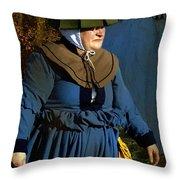 Frau Kitzler Goes Hunting Throw Pillow