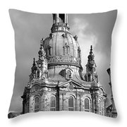 Frauenkirche Dresden - Church Of Our Lady Throw Pillow