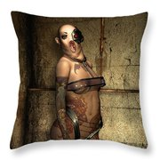 Freaks - The Second Girl In The Basment Throw Pillow