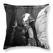 Freckled Fae II Throw Pillow