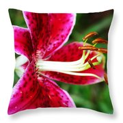Freckled Flower  Throw Pillow