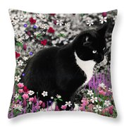 Freckles In Flowers II Throw Pillow