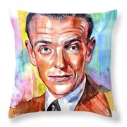 Fred Astaire Painting Throw Pillow