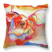 Fred Martin Begonia Throw Pillow