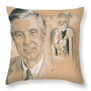 Fred Rogers Throw Pillow