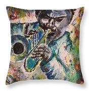 Freddie Hubbard Jazz Throw Pillow