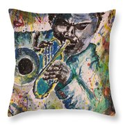 Freddie Hubbard Jazz Throw Pillow