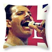 Freddie Mercury, Queen Throw Pillow