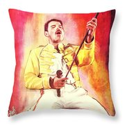 Freddy Mercury Throw Pillow