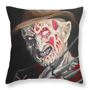Freddy's Back Throw Pillow