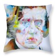 Frederic Chopin - Watercolor Portrait Throw Pillow