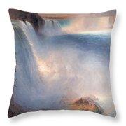 Frederic Edwin Church  Niagara Falls  American Side   1867 Throw Pillow