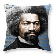 Frederick Douglass And Emancipation Proclamation Painting In Color  Throw Pillow