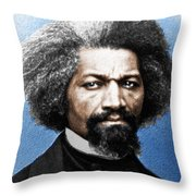 Frederick Douglass Painting In Color  Throw Pillow