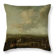 Frederick Henry At The Surrender Of Maastricht  22 August 1632  Manner Of Pieter Wouwerman 1633   1 Throw Pillow