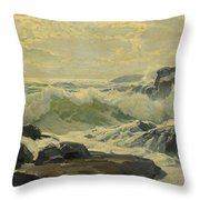 Frederick Judd Waugh 1861   1940 Coast Of Maine Throw Pillow