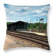 Fredericksburg Rail Station Throw Pillow