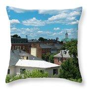 Fredericksburg Roof Tops Throw Pillow