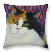 Fred's Cat Throw Pillow