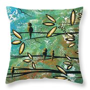 Free As A Bird By Madart Throw Pillow