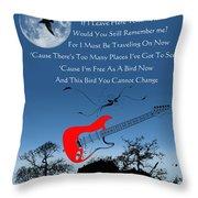 Free Bird Throw Pillow by Michael Damiani
