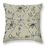 Free Hand Decoration Throw Pillow