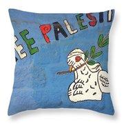 Free Palestine Peace Throw Pillow