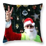 Free Palestine Santa Throw Pillow