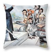 Free Silver Cartoon, 1895 Throw Pillow