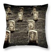 Free Slaves Throw Pillow