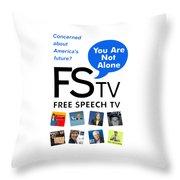 Free Speech Tv Throw Pillow