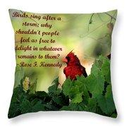 Free To Delight Throw Pillow