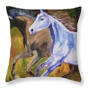 Free To Run Throw Pillow