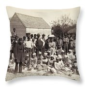 Freed Slaves, 1862 Throw Pillow by Granger