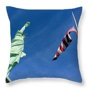 Freedom Flag Throw Pillow