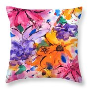 Freedom For Flowers Throw Pillow