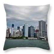 Freedom In Manhattan Throw Pillow